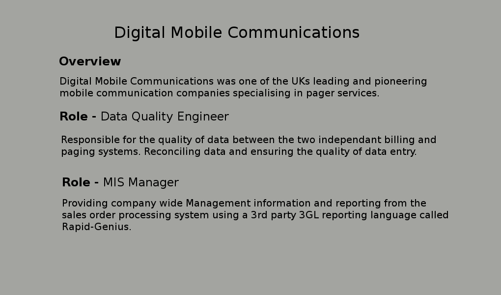 Digital Mobile Communications